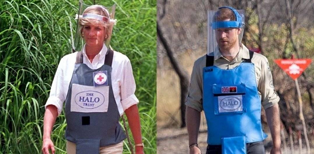 Harry sigue los pasos de la princesa Diana en Angola