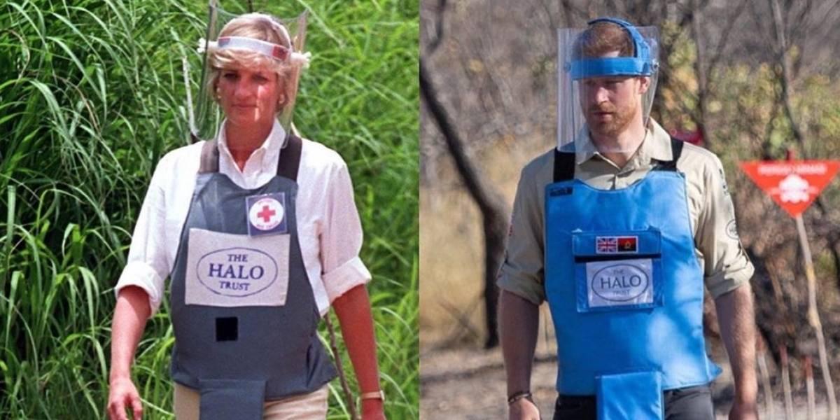 Harry rinde homenaje a la princesa Diana en su visita a Angola