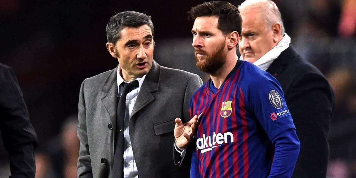 Ni Valverde sabe cuándo volverá a jugar Lionel Messi con Barcelona