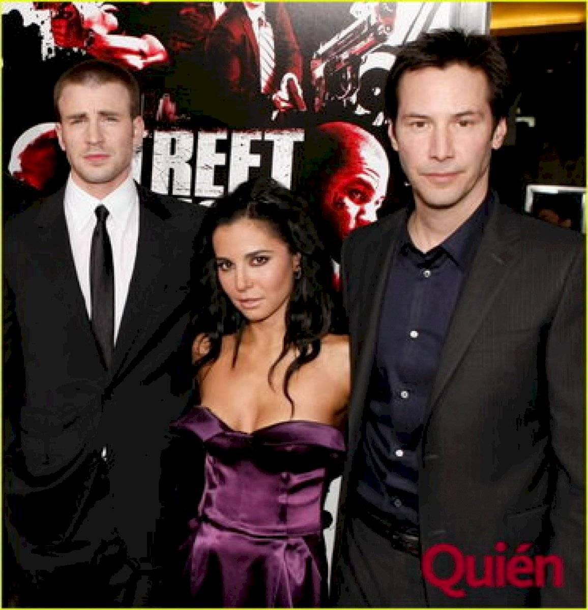Martha Higareda, Keanu Reeves y Chris Evans