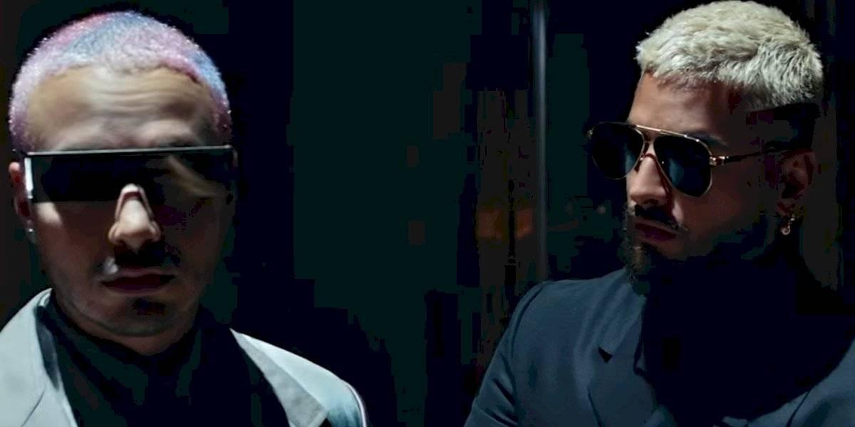 """Junte explosivo de Maluma y J Balvin en """"Que pena"""""""