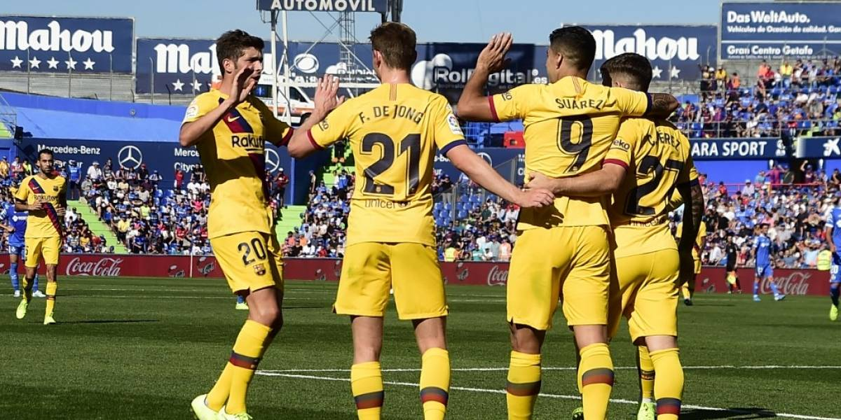 El Barcelona derrota al Getafe con varios lesionados