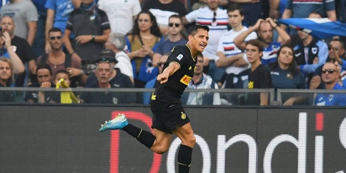 Minuto a minuto: Alexis Sánchez es titular en el Inter de Milán ante Sampdoria