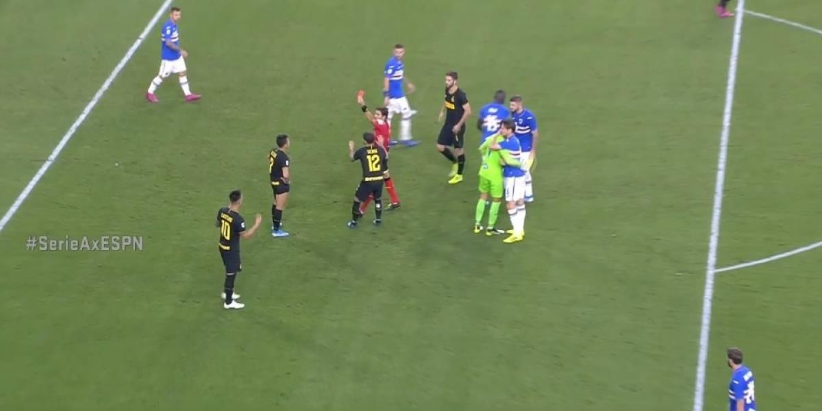 No se puede creer: Alexis Sánchez fue expulsado por simular un penal en el Inter de Milán