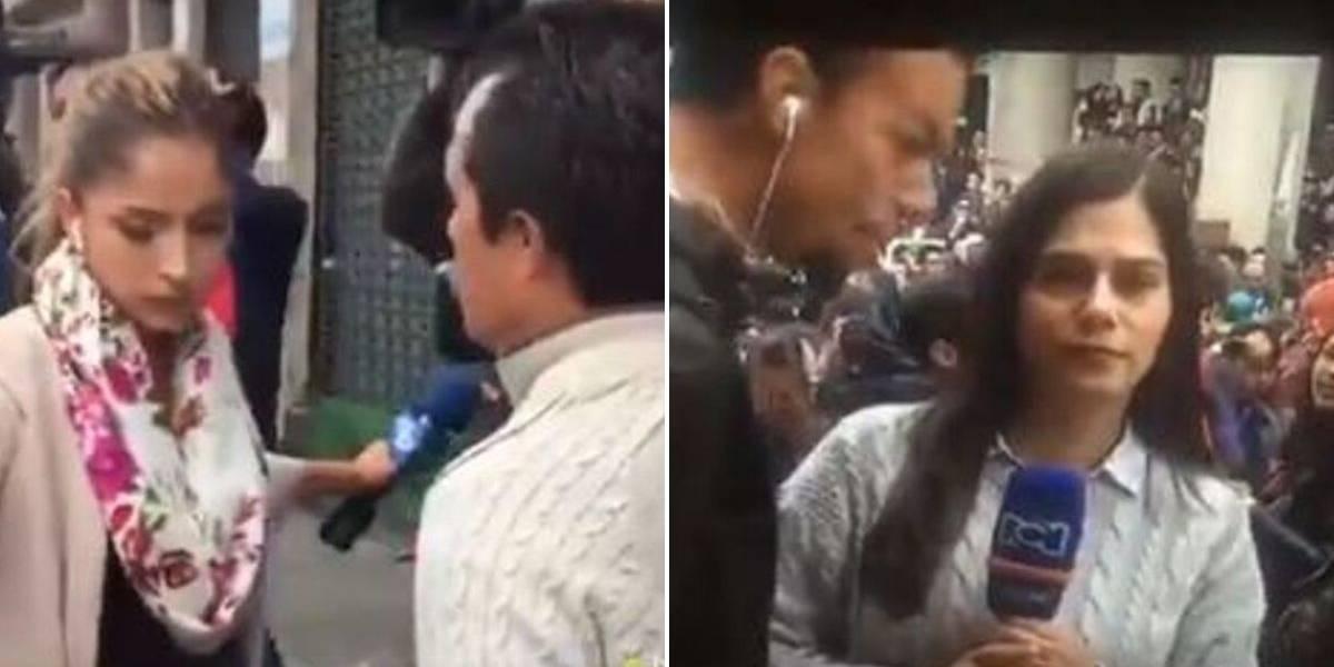 (VIDEO) Presentadoras de Caracol y RCN fueron agredidas en las marchas estudiantiles