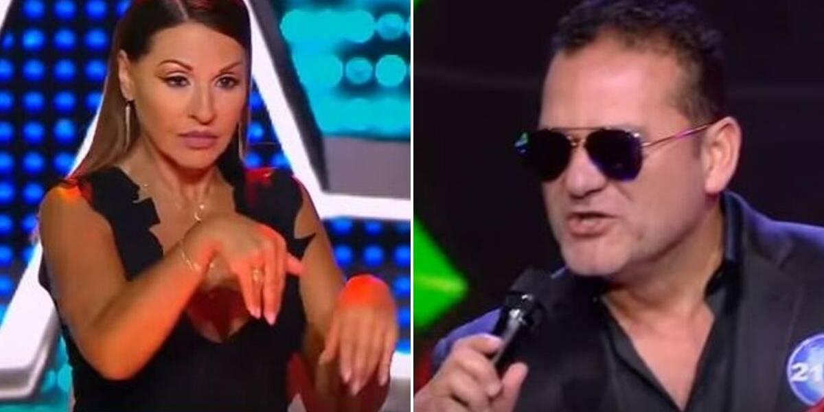 (VIDEO) El grosero gesto de participante de 'Yo Me Llamo' en contra de los jurados porque no lo dejaron pasar