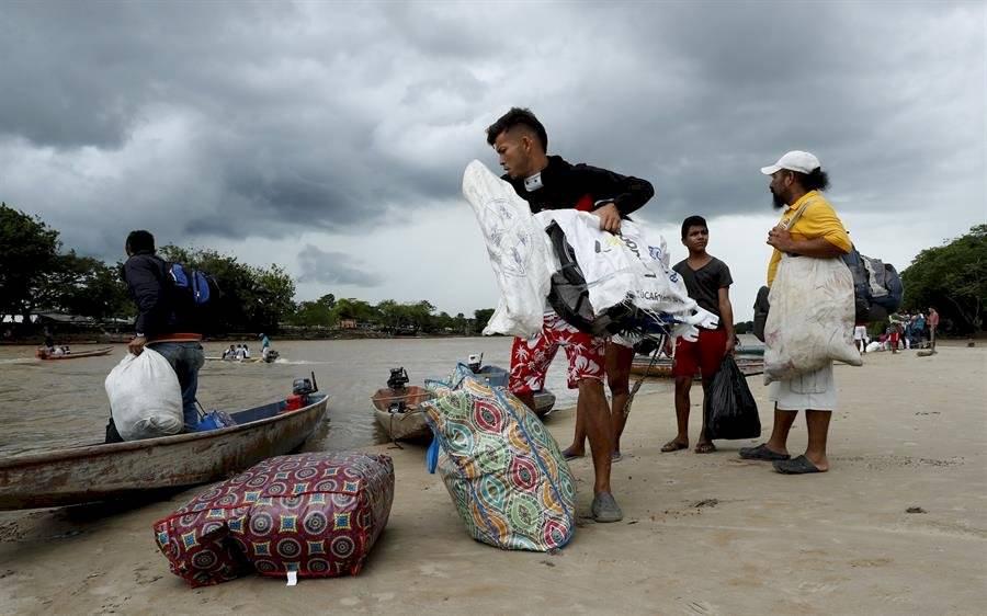 El río ayuda a venezolanos a escapar de la crisis de su país EFE