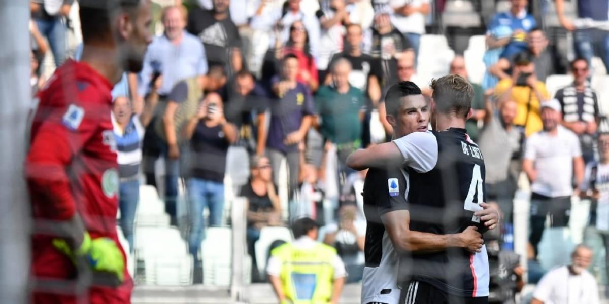 De la mano de Cristiano Ronaldo, la Juventus derrota al Spal