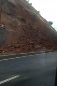 Derrumbe en el Libramiento de Chimaltenango