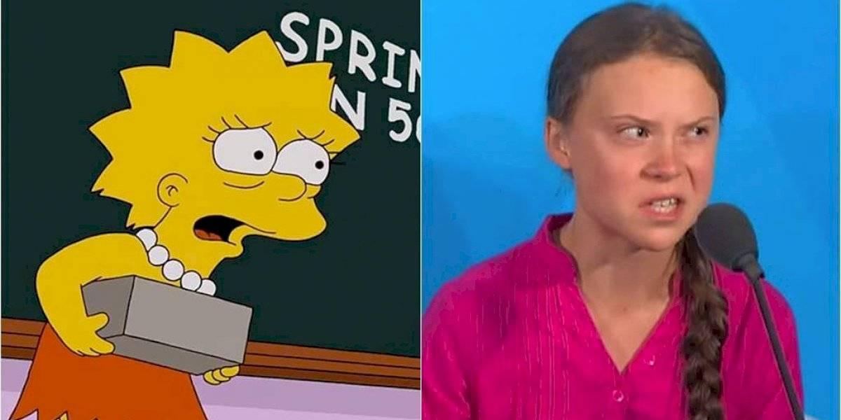 """Lo volvieron a hacer: el día en que """"Los Simpson"""" predijeron a Greta Thunberg"""