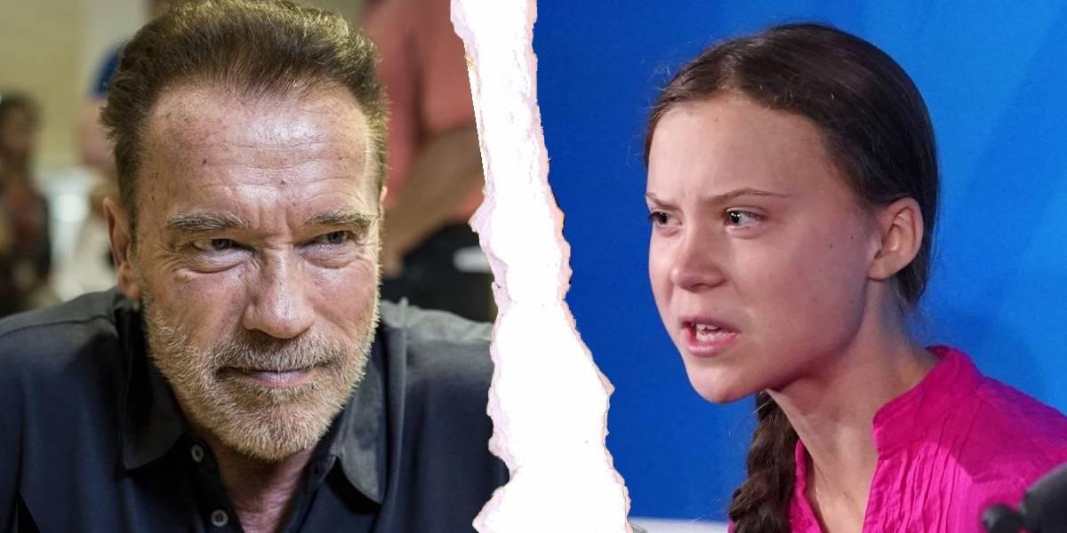 Arnold Schwarzenegger le ofrece a Greta Thunberg su Tesla Model 3 y ella acepta