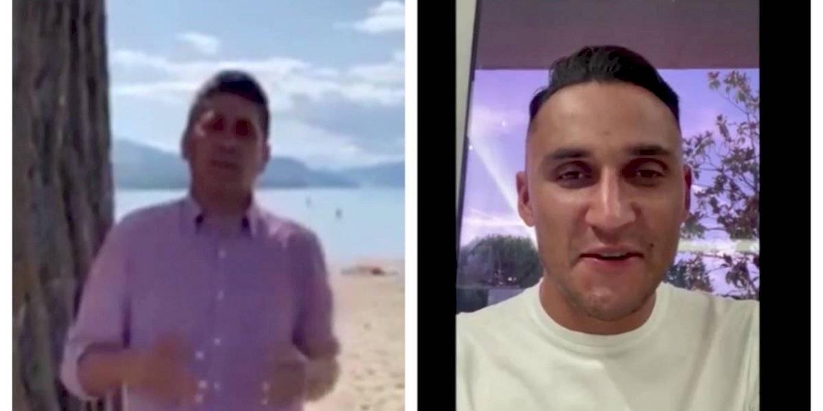 VIDEO. Keylor Navas y Jorge Campos tienen un gesto especial con Comunicaciones