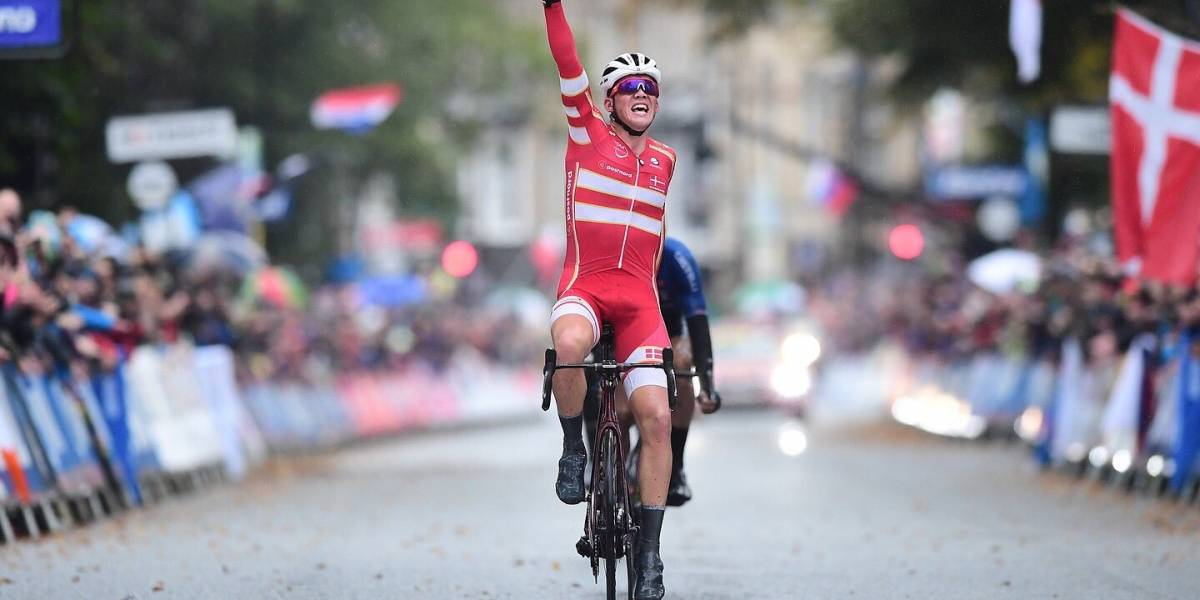 Mads Pedersen le da a Dinamarca el campeonato del mundo de ciclismo en ruta
