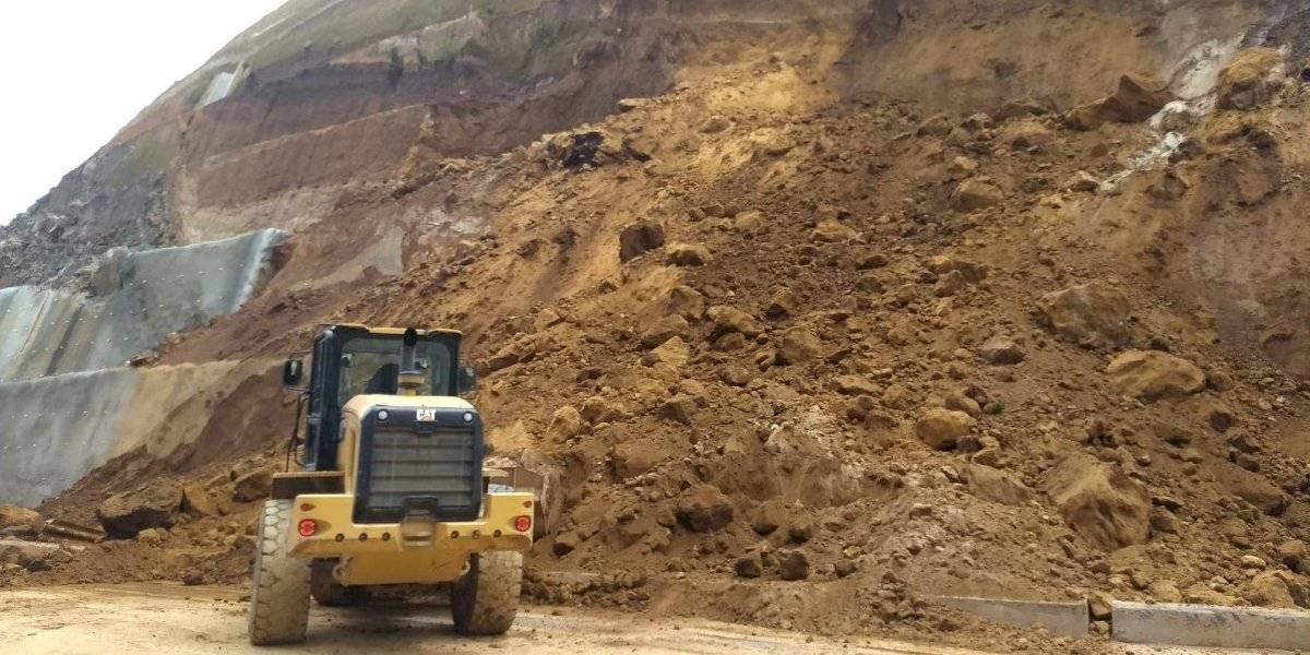 ¡Cuidado! Nuevo derrumbe en el Libramiento de Chimaltenango