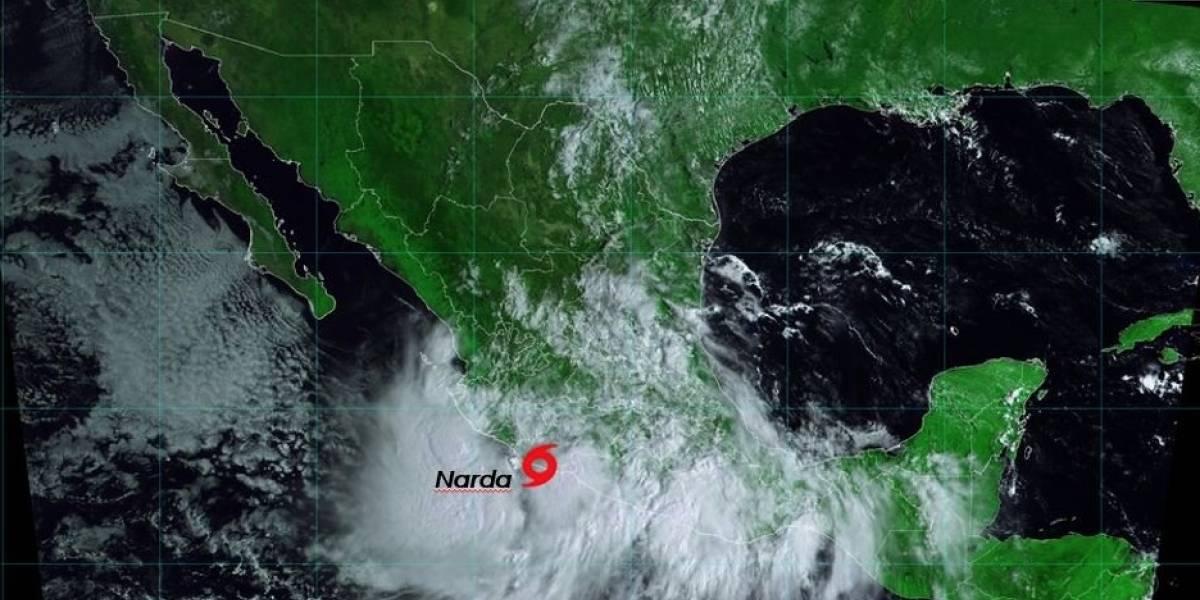 Tormenta Narda toca tierra al noreste de Lázaro Cárdenas, Michoacán