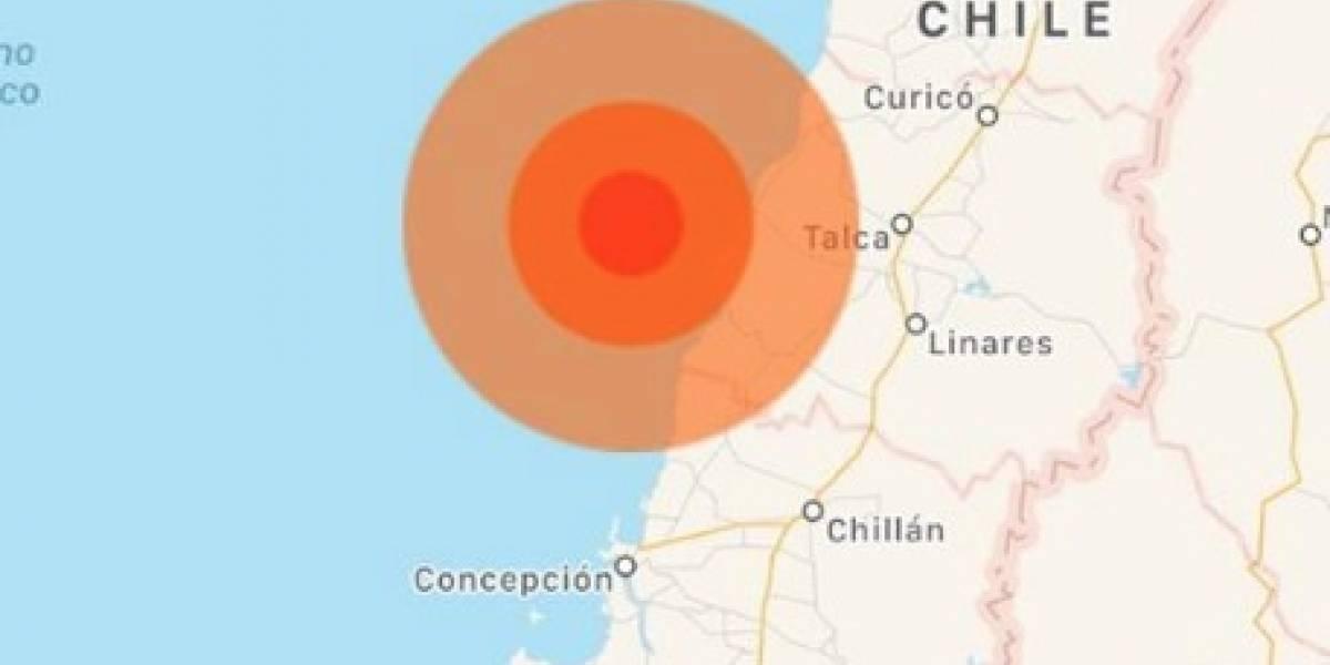 Sismo magnitud 6.6 sacude Chile
