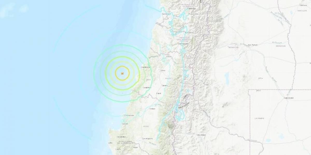 Terremoto de magnitud 6.8 sacude centro y sur de Chile