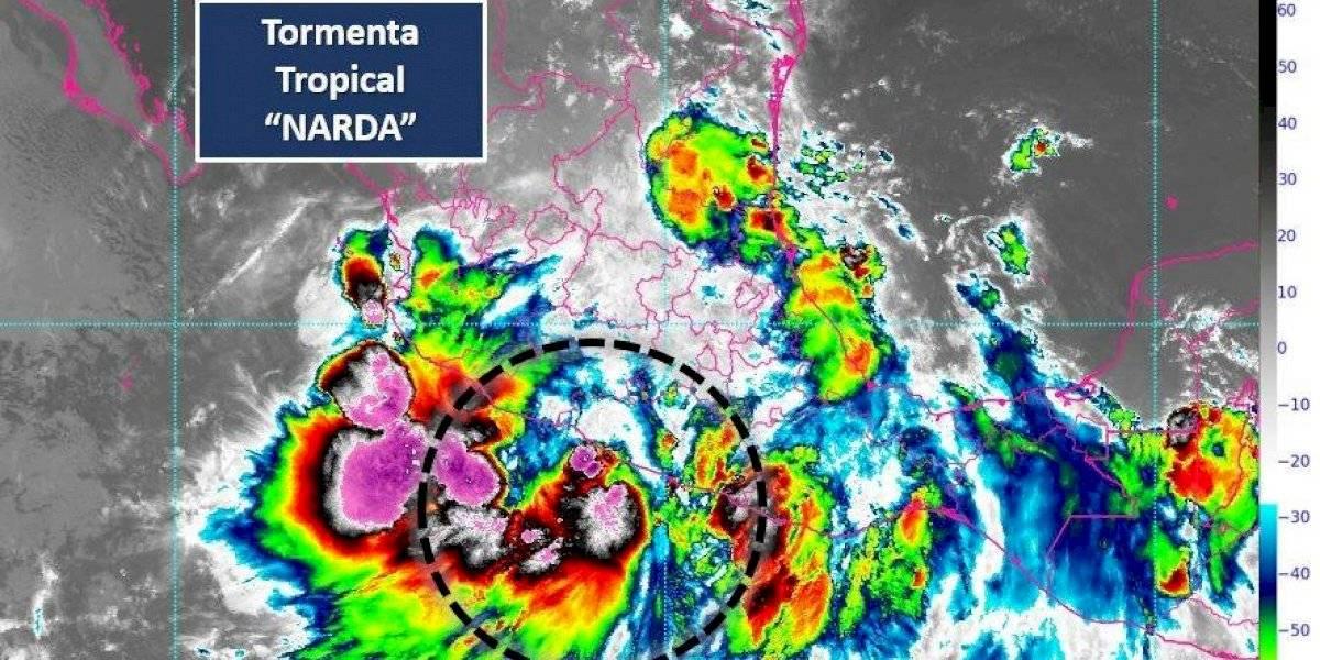 Narda se acerca a las costas de Guerrero; activan alerta verde