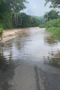 Río Blanco fuera de su cauce, 29 septiembre 2019