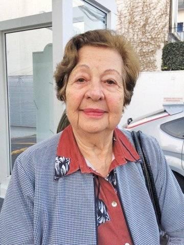 """""""O jeito para ficar bem é fazer muita ginástica. Ter uma alimentação boa e convívio com a família também ajudam muito."""" Maria Carolina Martins, 82, aposentada Metro"""