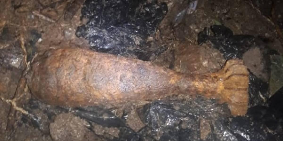 Localizan artefacto explosivo a orillas de un río en Jutiapa