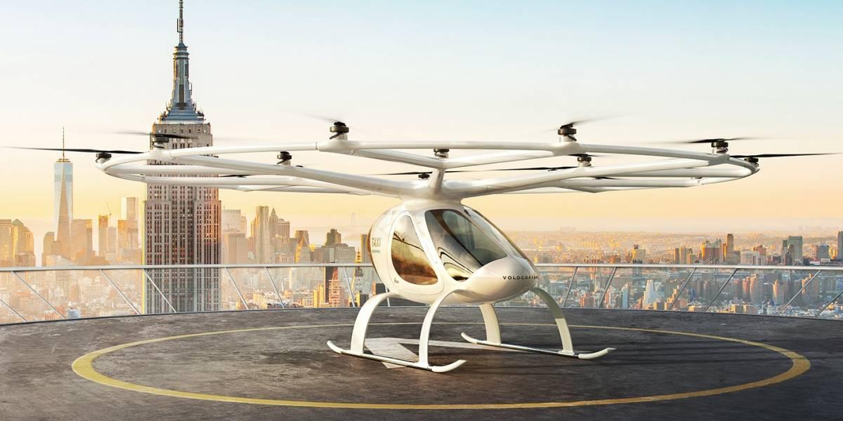 El primer taxi aéreo debutaría en Singapur, cortesía de Volocopter