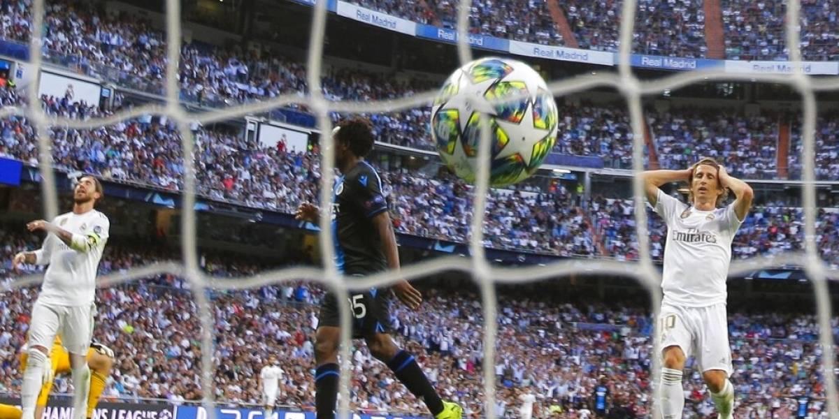 Real Madrid se salva de una segunda derrota consecutiva rescatando un empate ante Brujas