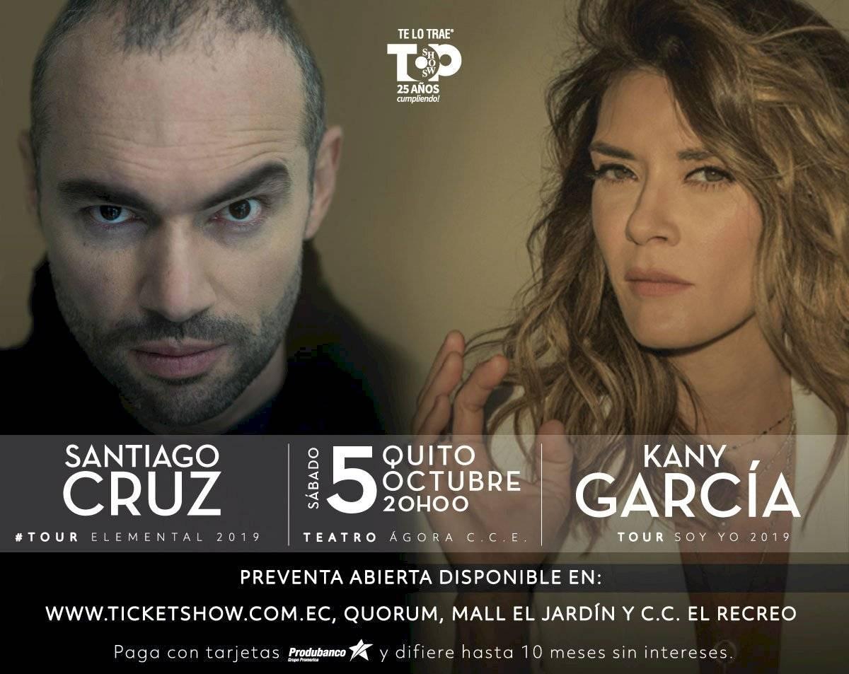 Santiago Cruz y Kany García