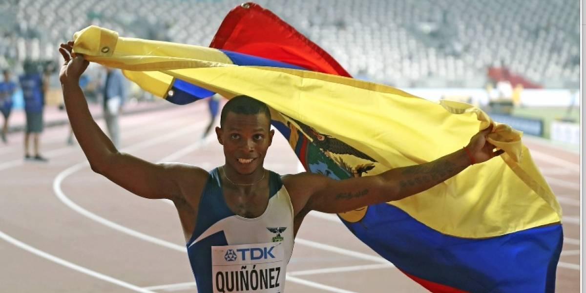 Álex Quiñónez obtuvo medalla de bronce en la final de los 200 metros planos del Mundial de Atletismo de Doha 2019