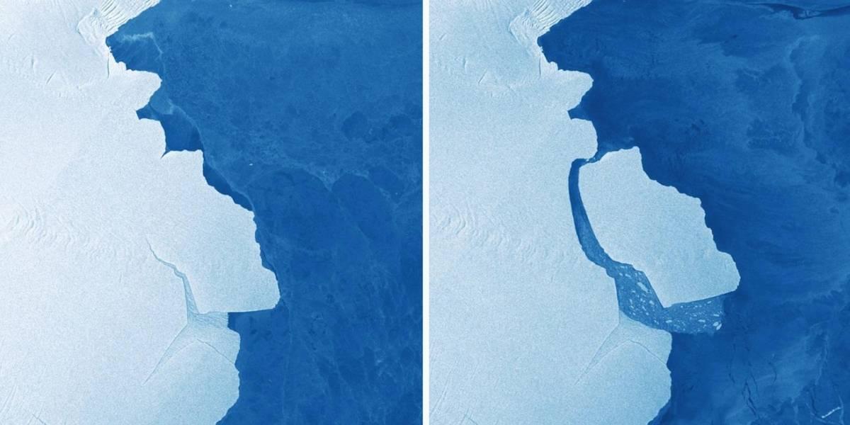 Iceberg casi tan extenso como Bogotá se desprendió de la Antártida