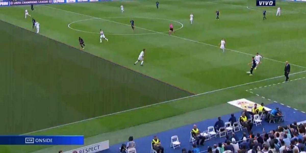 El insólito gol que el VAR le cobró en contra al Real Madrid ante el Brujas