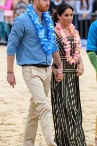 Meghan Markle y Harry en su visita la playa de Bondi, en de octubre de 2018 en Sydney, Australia.