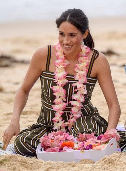 Meghan Markle en su visita la playa de Bondi, en de octubre de 2018 en Sydney, Australia. Getty Images
