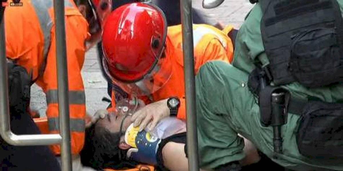 Celebración y caos: las caras opuestas de China y Hong Kong