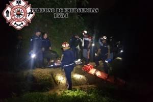 tres mujeres caen a un barranco en Fraijanes