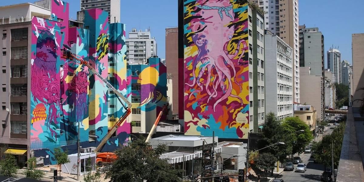 Grafite de 10 mil metros quadrados é produzido no centro São Paulo