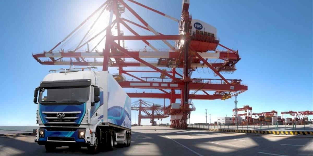 SAIC usa la tecnología 5G para el transporte de cargas