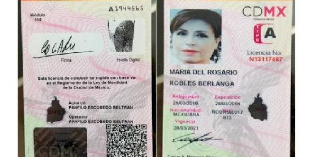 Confirman que licencia por la que encarcelaron a Robles es falsa