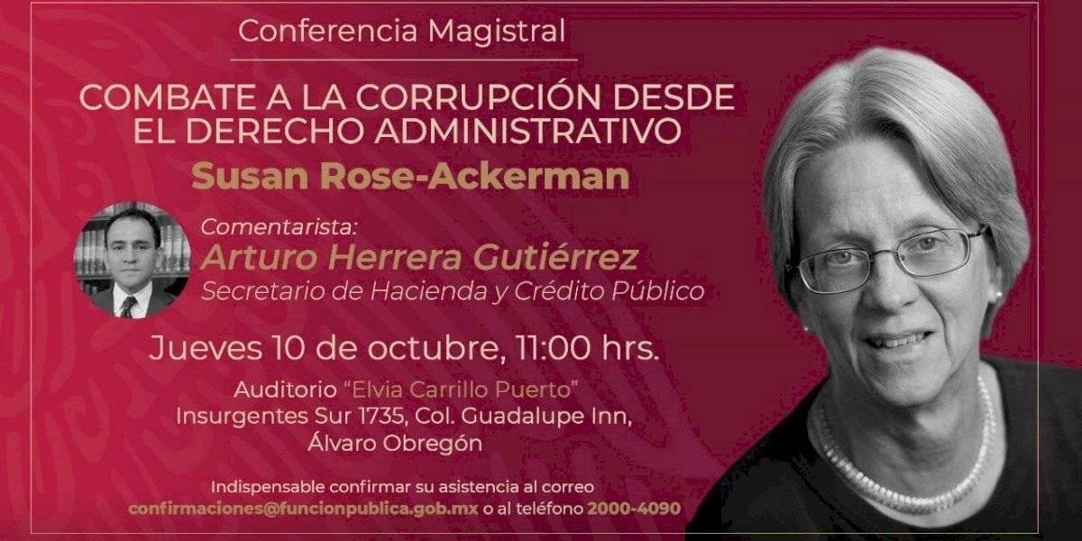 Critican a Irma Eréndira Sandoval por invitar a su suegra a impartir conferencia