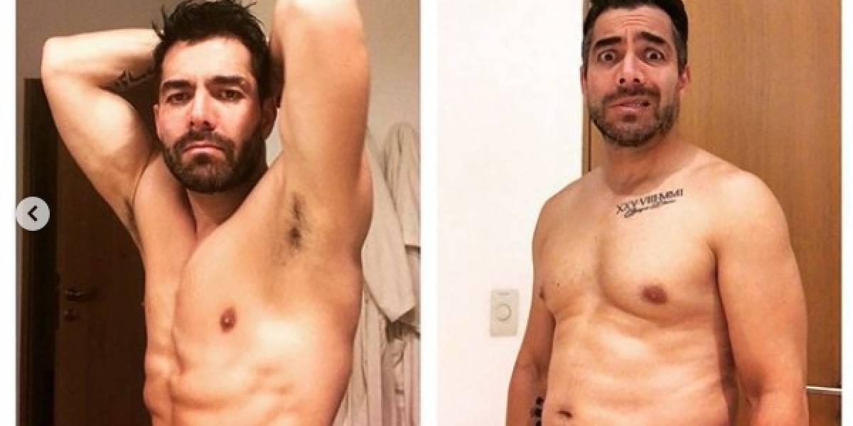 Omar Chaparro sufre por sobrepeso y lanza su challenge