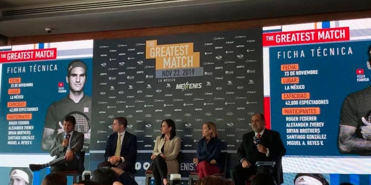 Presentan oficialmente partido de Roger Federer en México
