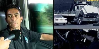 Los transportistas viven con temor a ser asaltados