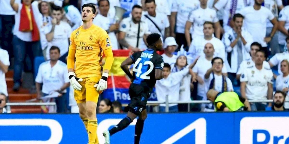 Zidane explica la razón por la que sacó a Courtois al mediotiempo