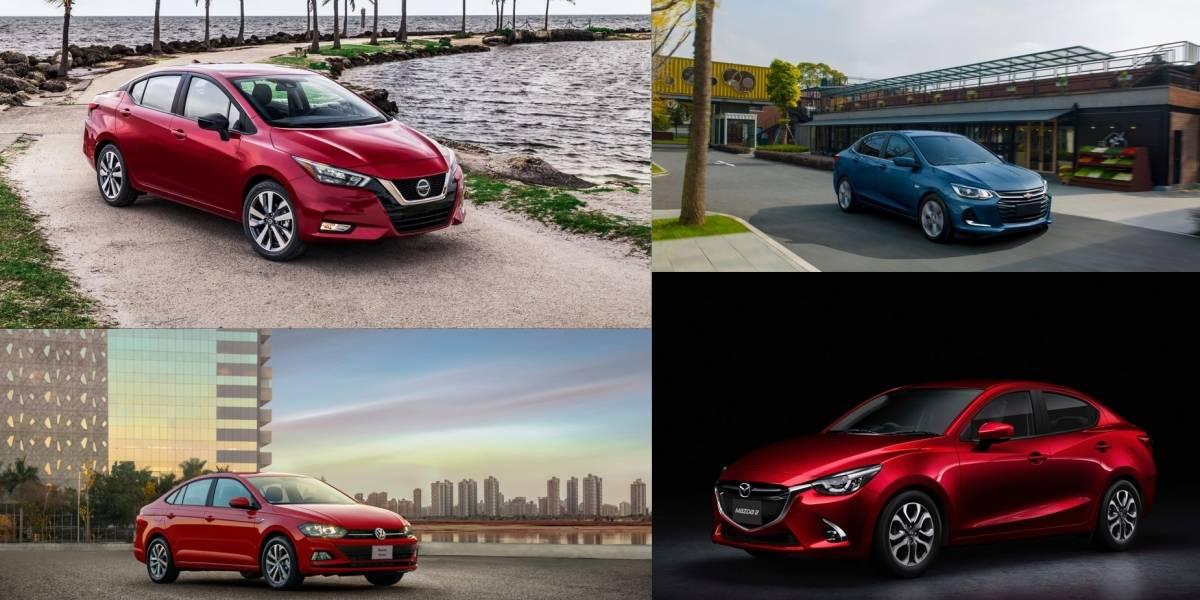 Versa versus Virtus, Onix, Rio, Accent, Yaris, Mazda2