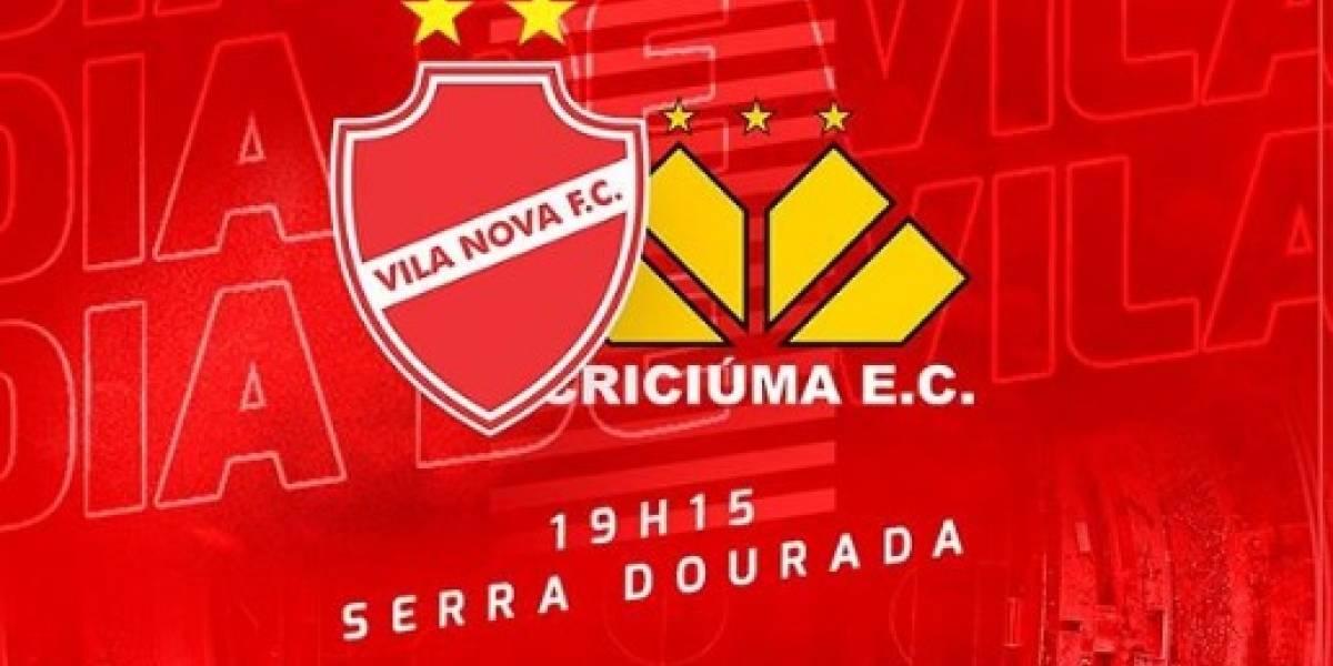 Série B 2019: como assistir ao vivo online ao jogo Vila Nova x Criciúma
