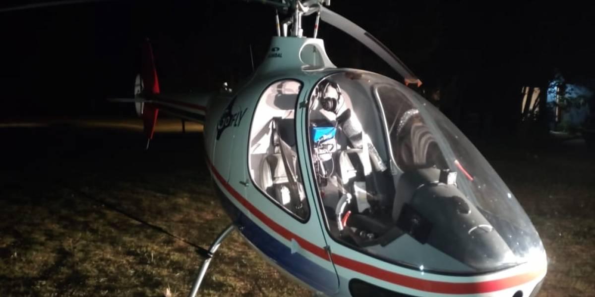 """Apareció el helicóptero """"robado"""" en Requínoa"""
