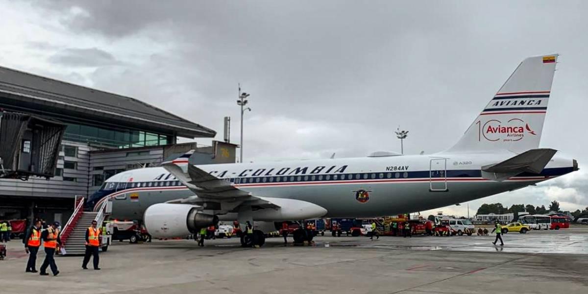 Avianca presenta avión conmemorativo por sus 100 años