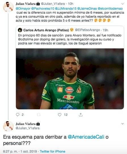 Julián Viáfara sobre doping de Alvaro Montero
