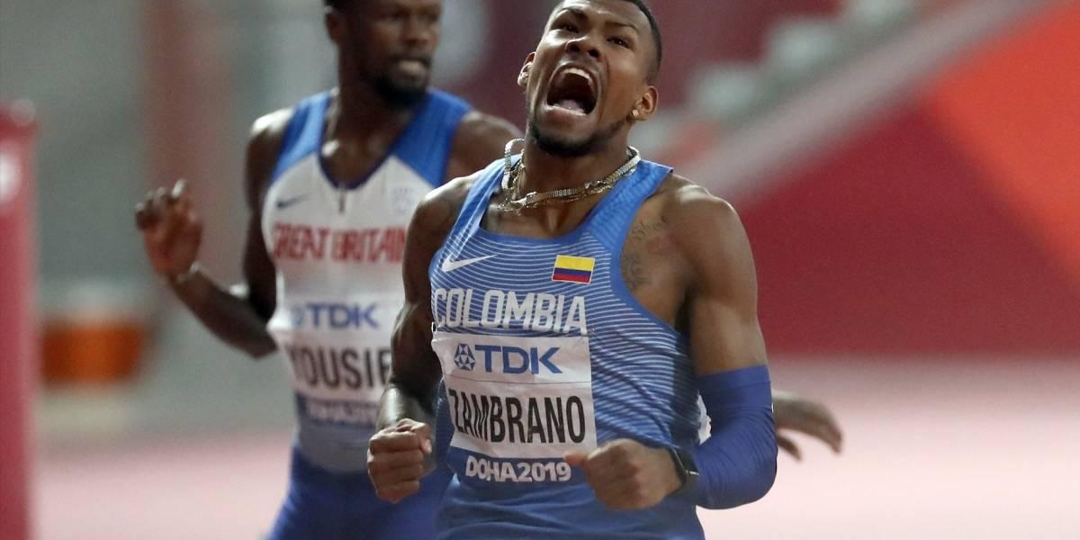 ¡Hace historia! Anthony Zambrano clasificó a la final de 400 metros en el Mundial de Atletismo