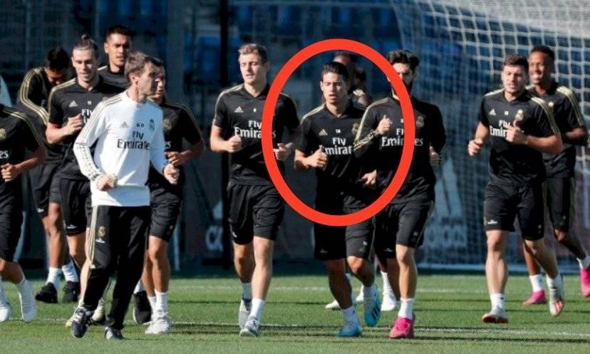 James Rodríguez entrenando después de Real Madrid VS Brujas